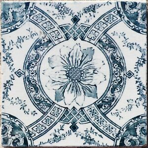 Antique Tile Hand Painted Portuguese