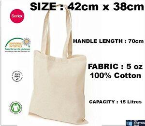 86639a8561e Details about 20 Pack 100% Eco Premium Cotton Promotional Canvas Shoulder  Tote Shopper Bags