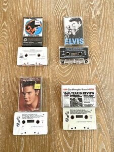 Elvis Presley Lot Of 4 Cassette Tapes Number 1 Hits, 1969 Songs