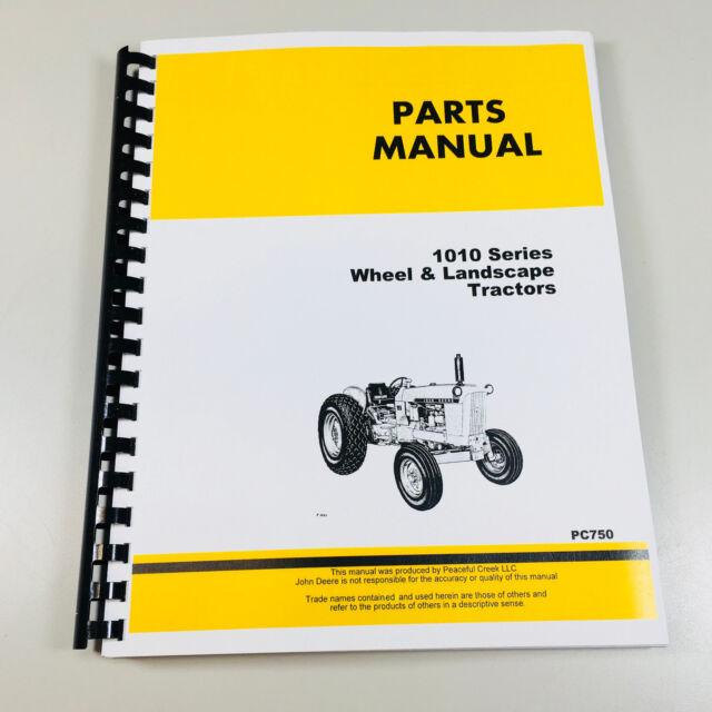 John Deere 1010 Tractor Wheel Landscape Parts Manual Ebayrhebay: John Deere 1010 Parts Diagram At Cicentre.net