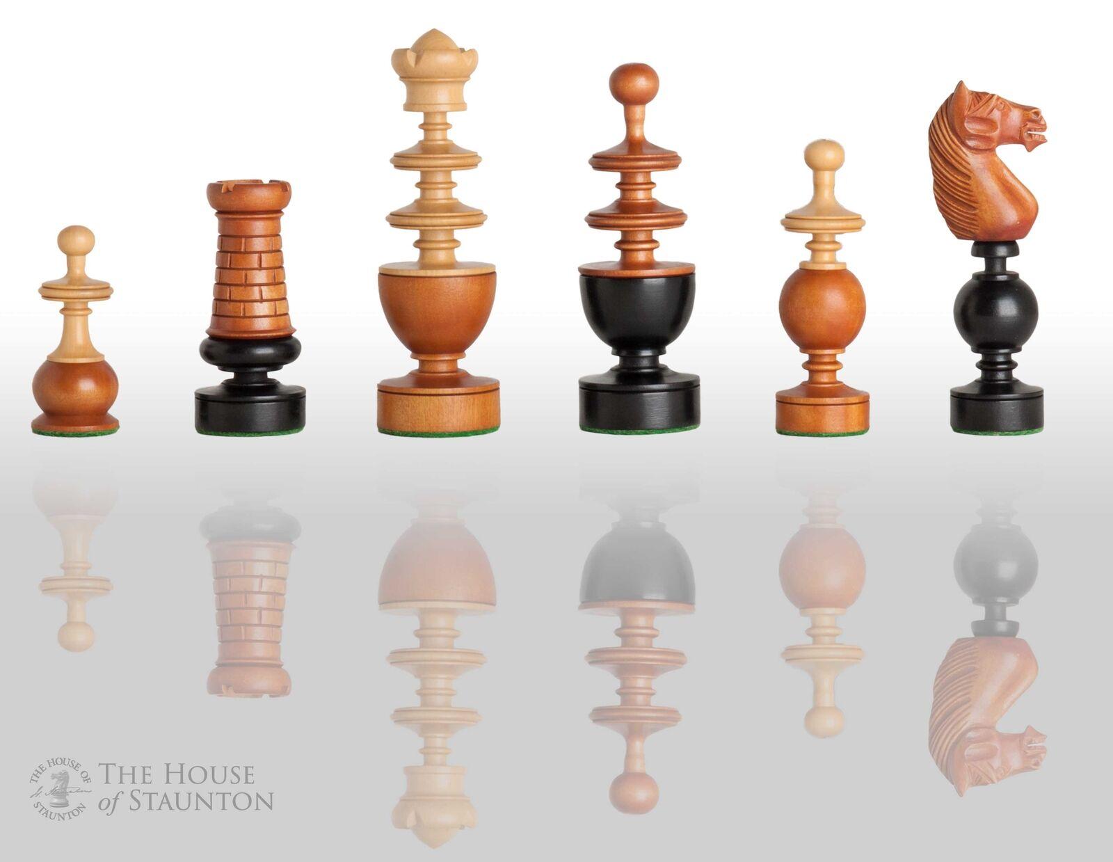 Les Français REGENCE Luxe Chess Set-pièces seuleHommest - 4.4   King-Ancien Buis  contre authentique