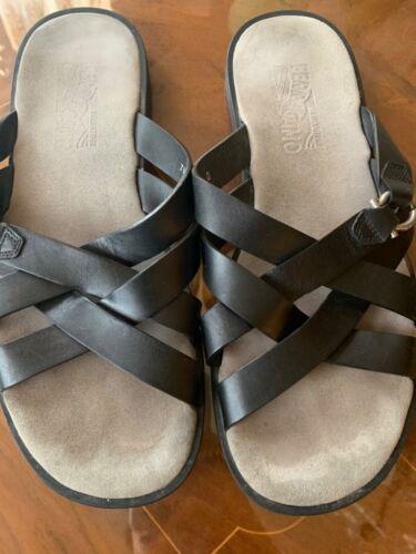 Salvatore Fearragamo men's sandals Leather slip on