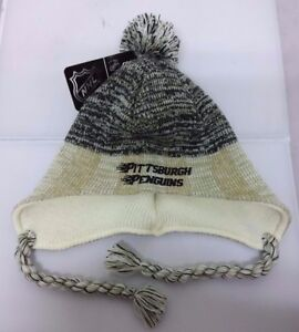 80400acdf98 Image is loading Pittsburgh-Penguins-NHL-Reebok-Fitted-Knit-Peruvian-Beanie-