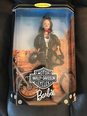 Harley Davidson Motorcycle Brunette Barbie Doll w// Leather Jacket /& Purse 22256