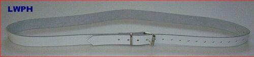 Correa de piel cinturón de cuero blanco 4,0 x 140,0 cm de largo fijación sujeción Correa Correa