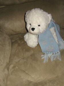 12 Winter Cuddle Plush Polar Bear W Scarf Ebay