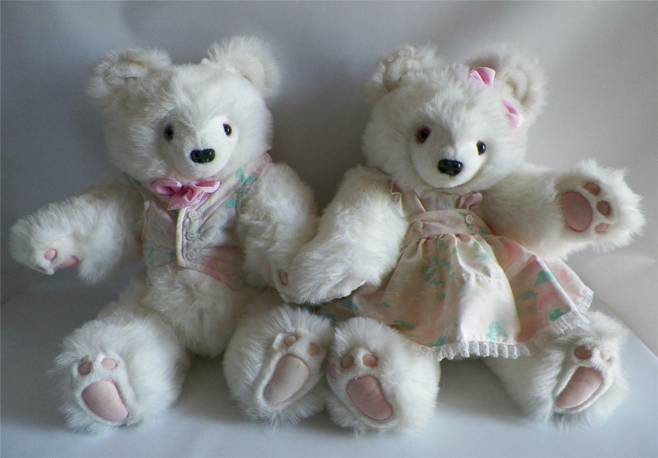 Bianca rossofield Bears Set Boy Girl Teddy Fully Jointed 20  Limited Edition