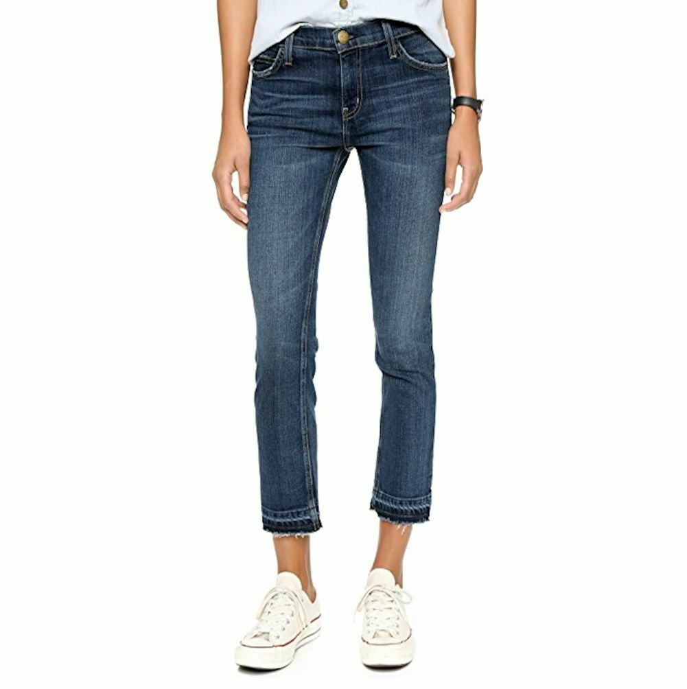 NWTCURRENT ELLIOTT CROPPED STRAIGHT JEANSMEDIUM WASH w RELEASED HEM28