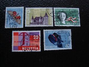Switzerland-Stamp-Yvert-and-Tellier-N-601-A-605-Obl-A1-Stamp-Switzerland-E