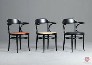 Thonet Modell 233 P Wiener Kaffeehausstuhl Bugholz Klassiker Stuhl Schwarz chair