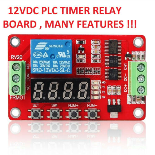 1 PC 12 VDC PLC CYCLE TIMER MULTIFUNCTION DELAY MODULE MANY SETTINGS !! USA