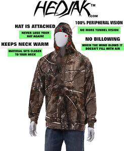 HEDJAK Safety Hoodies Real Tree Zip Up Hooded Sweatshirt Adult