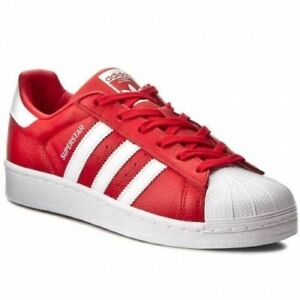 on sale c8aba b7f5c Details about Adidas Orginals Superstar Men's Casual Lifestyle Shoes Red  White Sneakers BB2240