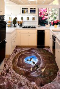 3D Dinosaur Cave 703 Floor WallPaper Murals Wall Print Decal AJ WALL CA Carly