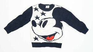 Disney-Boys-Abstract-Blue-Mickey-Mouse-Jumper-Age-3-4