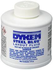 Dykem 80300 Steel Blue Layout Fluid 4oz Metalworking Scribe Quick Dry Brush Cap