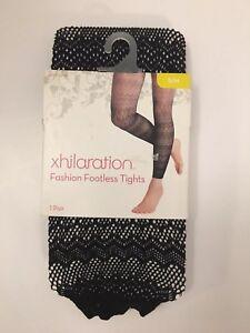 19a4d6bb4ff0f Xhilaration Fashion Footless Tights Ombre Black S/M 490250026279   eBay