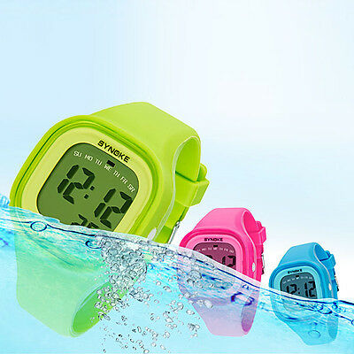Women Waterproof Watch LED Digital Sports Watch Girls Silicone Square Wristwatch