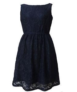 Women-Cocktail-Black-Lace-Boat-Neck-Race-Party-Dress-Size-16-18-20-NEW-plus-size