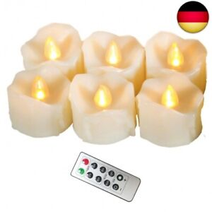 3 er Set LED ROT flackernde flammenlose Kerzen mit Fernbedienung