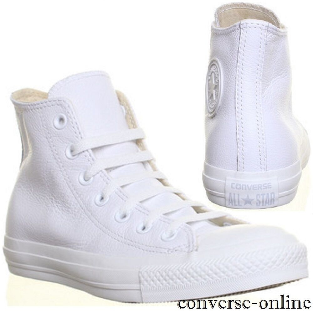 Herren CONVERSE All Star Weiß LEATHER Trainers HIGH TOP Sneakers Trainers LEATHER Stiefel UK SIZE 13 70d4b1