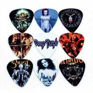12-Plettri-chitarra-basso-rock-band-Metallica-Led-Zeppelin-Ramones-1-00mm-Heavy