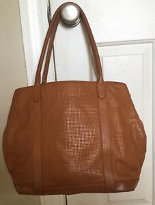 b4470ad97e7b Image is loading Margot-Genuine-Leather-brown-Pumpkin-woven-Extra-Large-