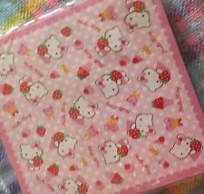 Sanrio Hello Kitty strawberry Pink 40 sheet origami memo letter sheets