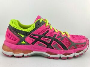 Details about Asics Gel Kayano 21 $120 Women's Running Shoes Size 8.5 Hot Pink Lime Green