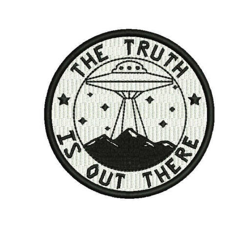 The truth is out there UFO ovni paranormal embroidered patch astral threads Ex