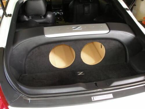 "ZEnclosures 350Z 2-10/""  Sub Subwoofer Box With AMP RACK"