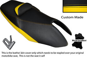 BLACK & YELLOW CUSTOM FITS YAMAHA T MAX XP 500 01-07 DUAL SEAT COVER