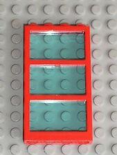 LEGO Red Window with TrLtBlue Glass 6160c03 / set 4556 6543 7993 4117 & 4176