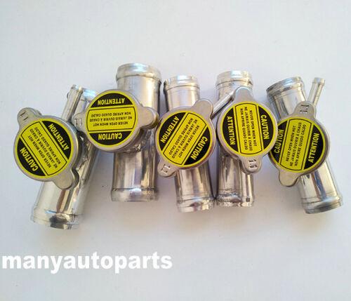 "32mm 1-1//4/"" o.d All Aluminum In-Line Radiator Hose Connector Filler Neck// Cap"