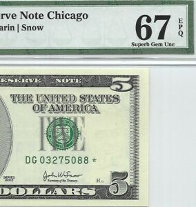 2003-5-CHICAGO-STAR-FRN-PMG-SUPERB-GEM-UNCIRCULATED-67-EPQ-BANKNOTE