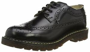 Shoes Brogue Lace Bertrum Up Grinders Black Leather Unisex Casual American Real AI67v6wqW