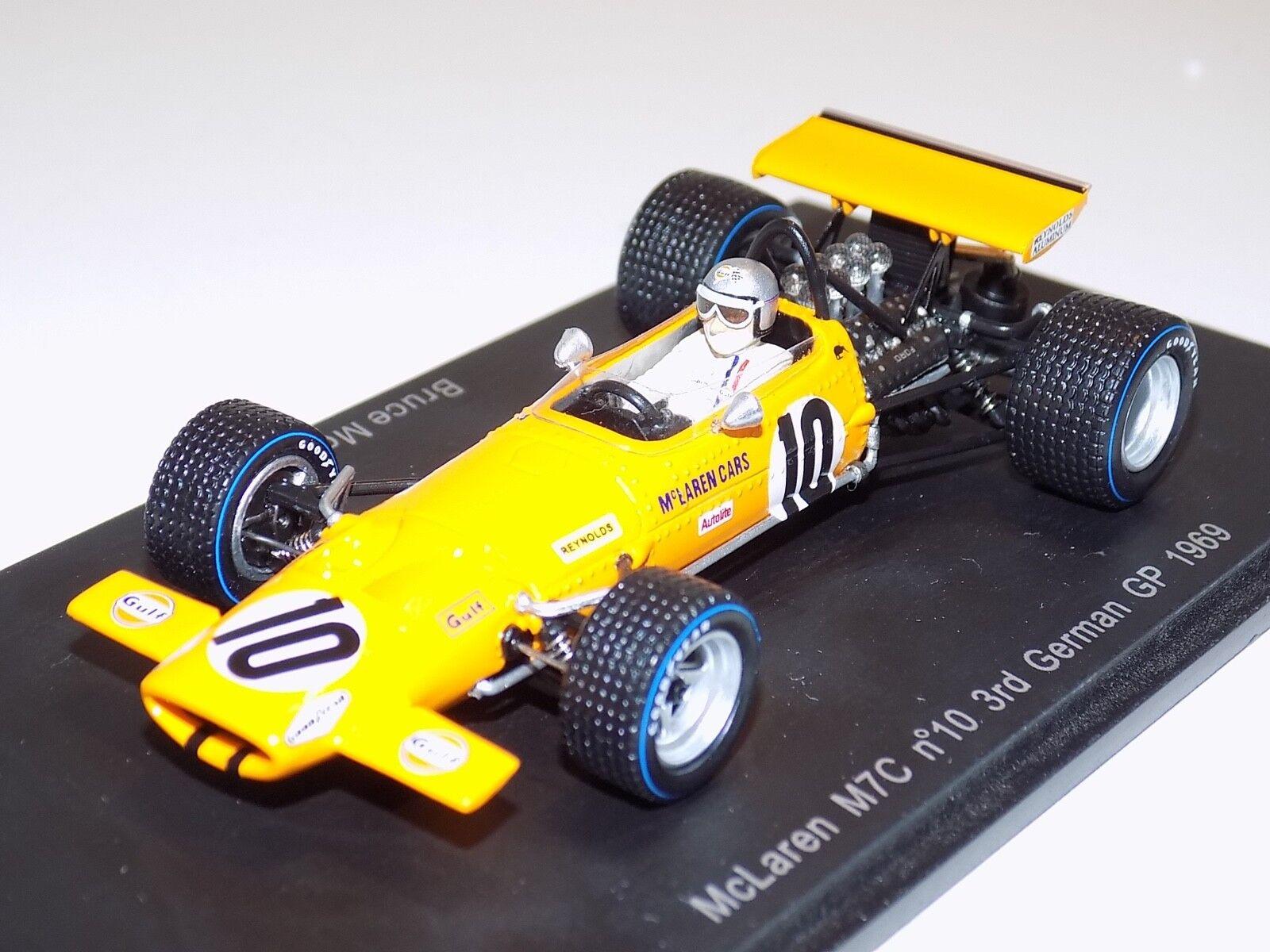 1/43 Spark McLaren M7C coche 10 3rd Alemán GP 2018 Bruce McLaren S3133