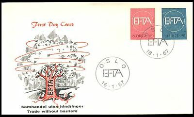 Norway Strong-Willed Norway 1967 Efta Cept Set On Fdc Europe Tree & Europe Cachet Carefully Selected Materials
