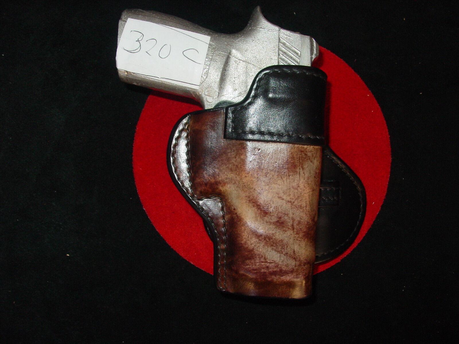 Sig Sauer 320 compact  burnish brown paddle holster Kwik & Free