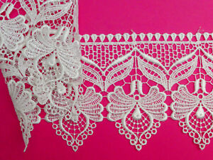 Dusky Pink Lace Trim 55mm Wide Flower And Scalloped Edge Buy 2 Get 1 Free