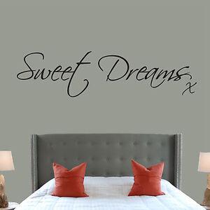 sweet dreams quote wall art sticker vinyl decal kids nursery home