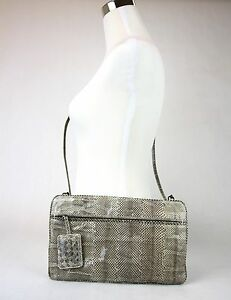 Image is loading 2400-New-Authentic-BOTTEGA-VENETA-Python-Clutch-Shoulder- cbd594e3926e1