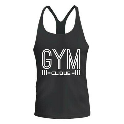 PIMD Essential Male Vest White Mens Gym Sports Stringer Tank Top Relaxed Fit