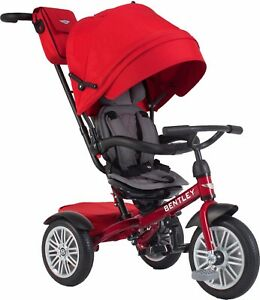 Bentley Trike 6-in-1 Reversible Seat Convertible Tricycle Stroller Dragon Red