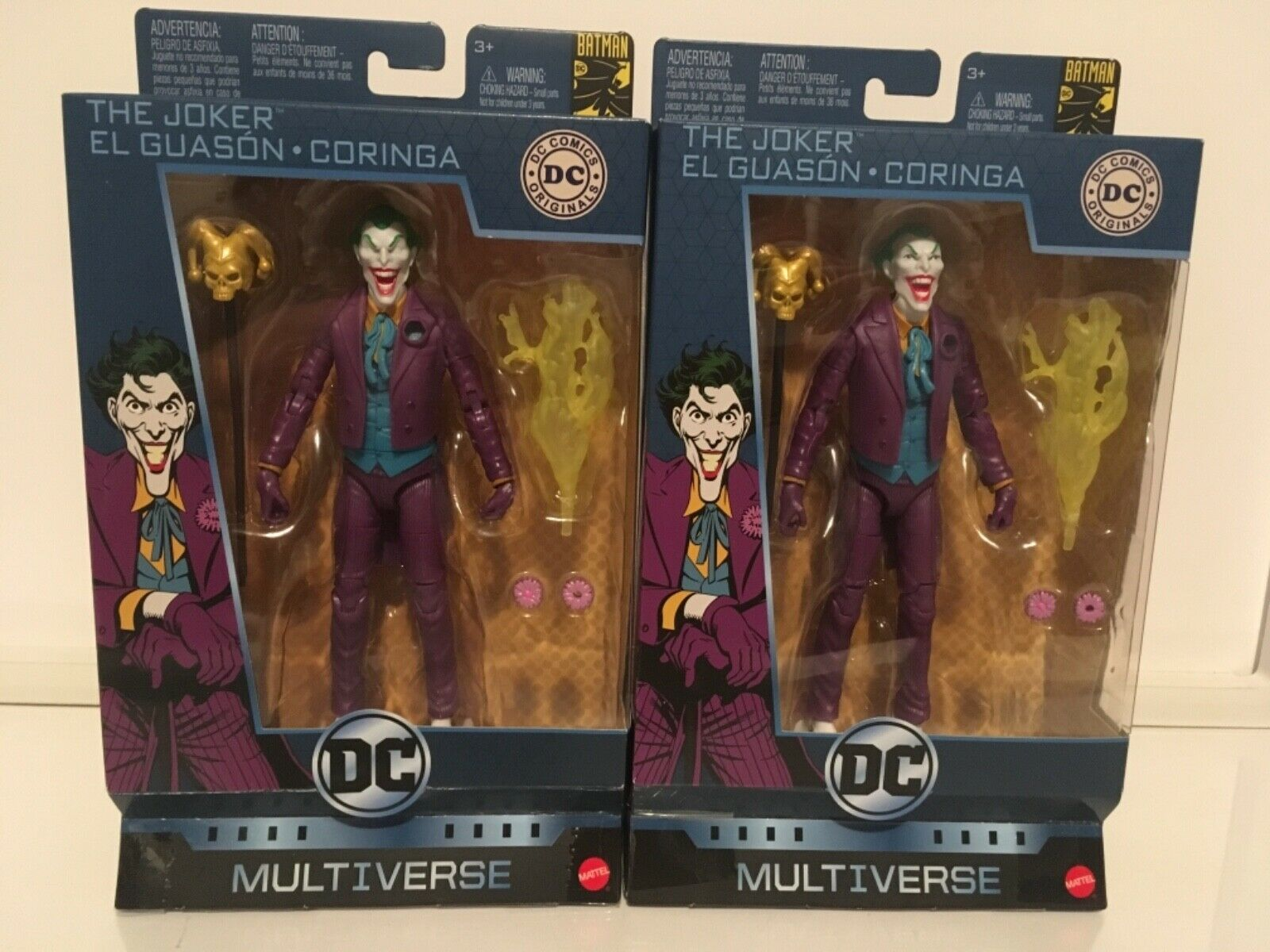 DC Multiverse Joker 80 years DEFECT (no eyes pupils) and Regular Action Figure