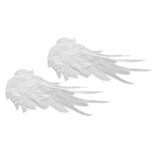 A Pair of Embroidered Patch Iron-on//Sew-on Patches Badges Angel Wings Applique