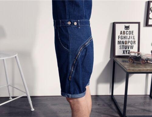 Mens Summer Casual Denim Short Jumpsuits Pants Overalls Rompers Trousers