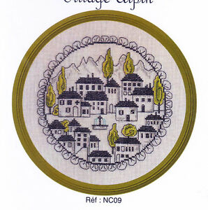 Village-Alpin-sweet-circular-colour-cross-stitch-chart-Jardin-Prive
