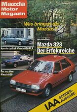 Mazda Motor Magazin 3/83 Prospekt brochure 1983 Auto Autoprospekt PKW Japan Asia