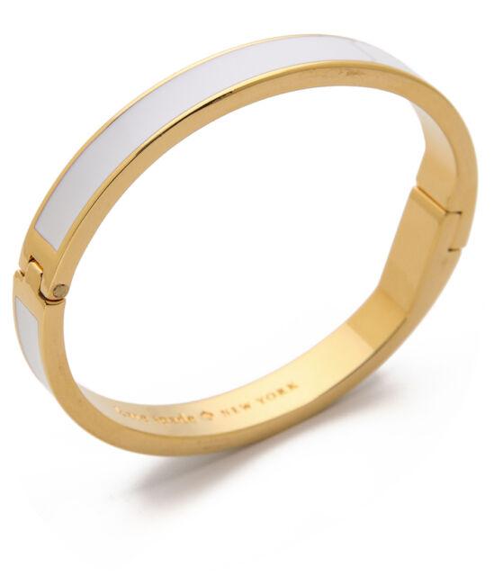 Kate Spade Idiom Bangles Goldtone White Clean Slate Bangle Bracelet
